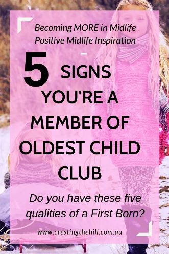 Have you noticed that oldest children seem to have characteristics in common? It may not be scientifically proven, but there are definite traits I see in my fellow Oldest Child Club members. #oldestchild #firstborn