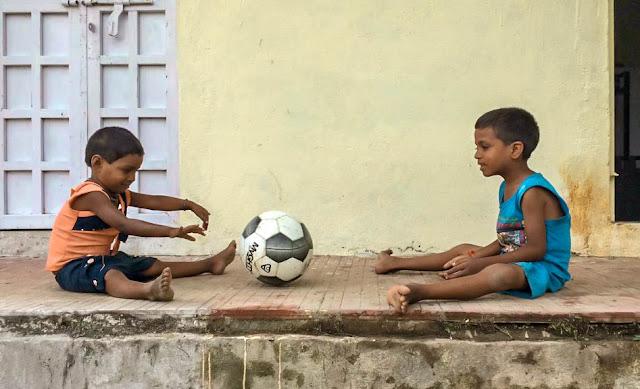 Poonam, la estudiante más pequeña de la casa de acogida de Kolam