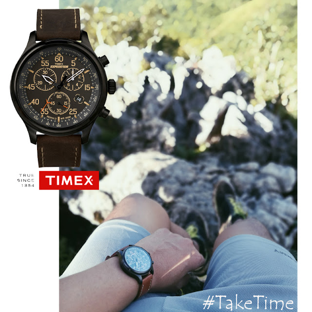 Timex Expedition Field Leather Chronograph Watch