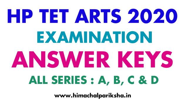 Answer Key | TGT Arts 2020 | HP TET Arts 2020 | Himachal Pariksha