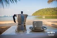 Kaffee auf der paradiesischen Insel Koh Phayam, Thailand.