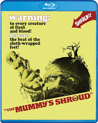 Covert art for Scream Factory's Blu-ray of THE MUMMY'S SHROUD!