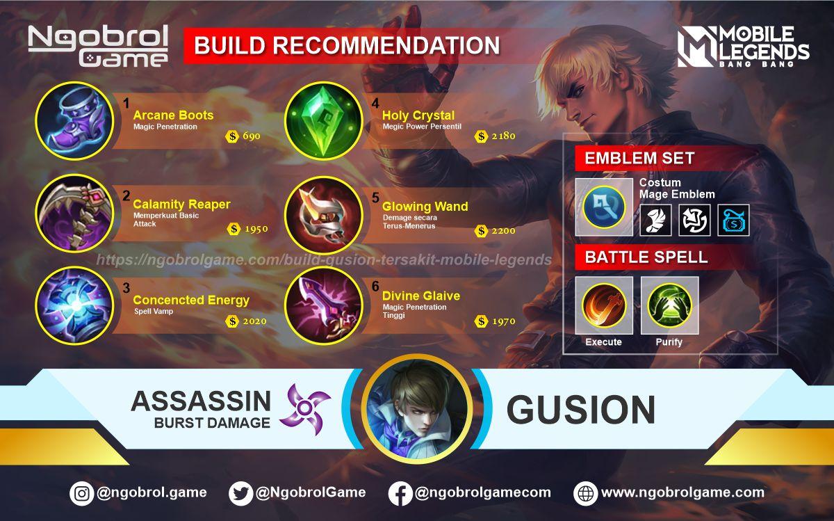 Build Gusion Top Global Tersakit Mobile Legends