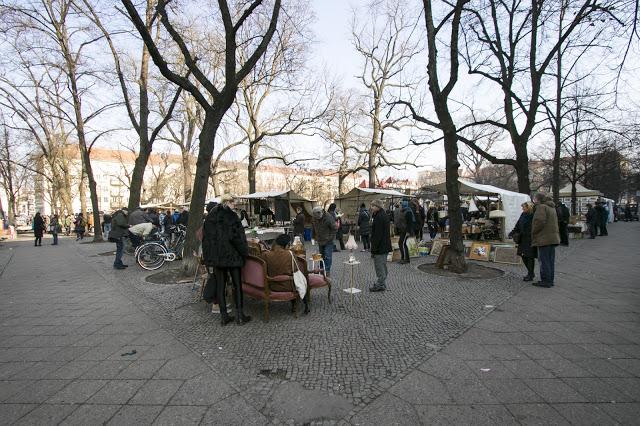 Mercato a Boxhagener Platz-Berlino