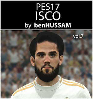 PES 2017 Faces Isco by BenHussam