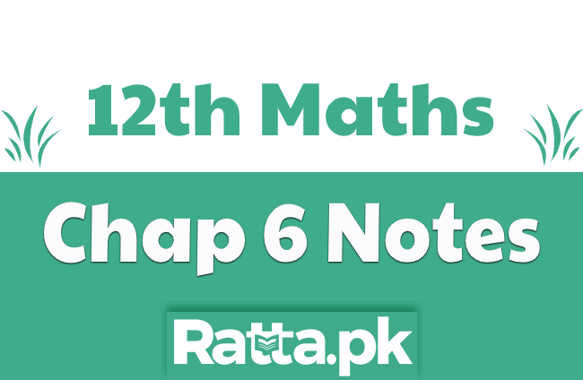 2nd Year Maths Chapter 6 Notes Conic Section pdf