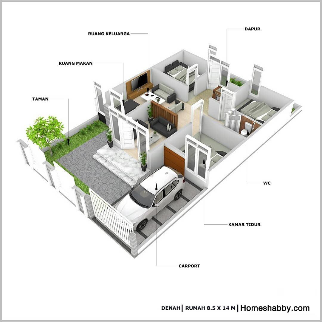 desain bangunan rumah 3 kamar