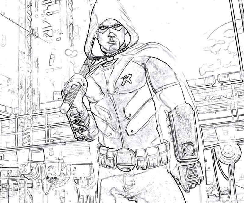Printable batman arkham robin skill coloring pages