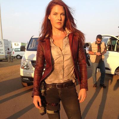 Ali Larter on the set of Resident Evil: The Final Chapter (3)