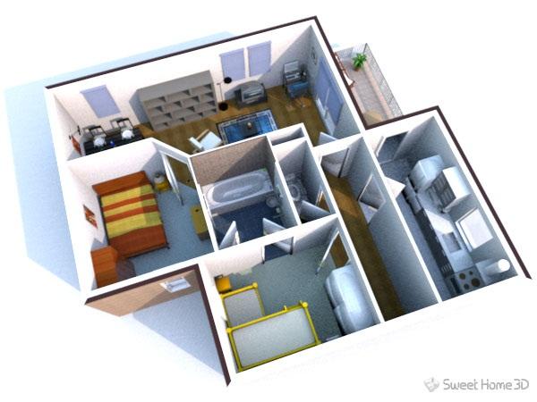 gambar di atas merupakan desain rumah minimalis yang di kerjakan menggunakan Sweet-Home-3D bagus kan ♥ terlihat dari denah rumah s&ai jadi bentuk 3d ...