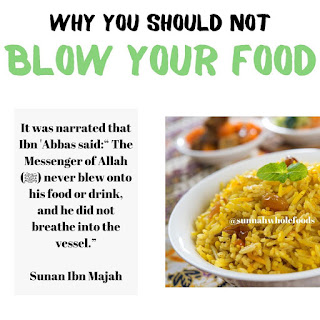 hadith on eating hot food