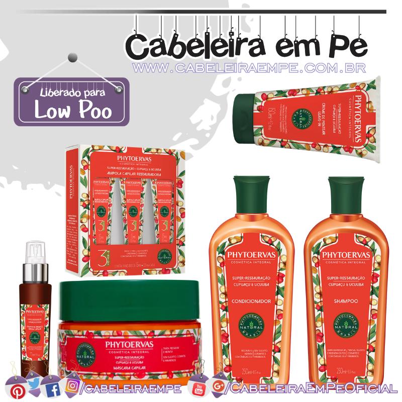 Shampoo, Condicionador, Ampola, Máscara, Creme para Pentear e Protetor Térmico Restauração Cupuaçú e Ucuúba - Phytoervas (Low Poo)