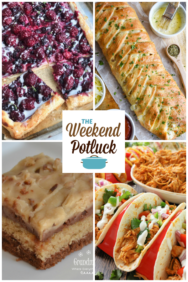 A virtual recipe swap with Blackberry Cheese Danish, Pizza Braid, Peanut Butter Chocolate Texas Sheet Cake, 3-Ingredient Crock Pot Chicken Taco Meat and dozens more!