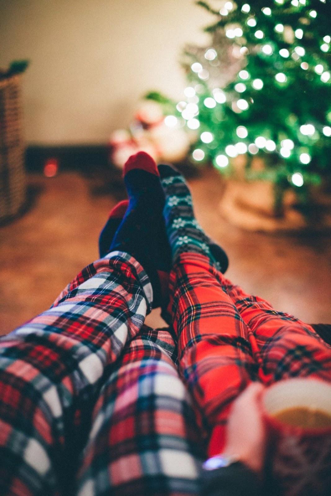 plaid pajamas for cozy winter evening