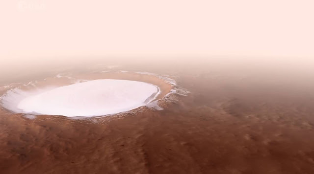 WATCH: Rare footage of Mars' crater which can be a source of water