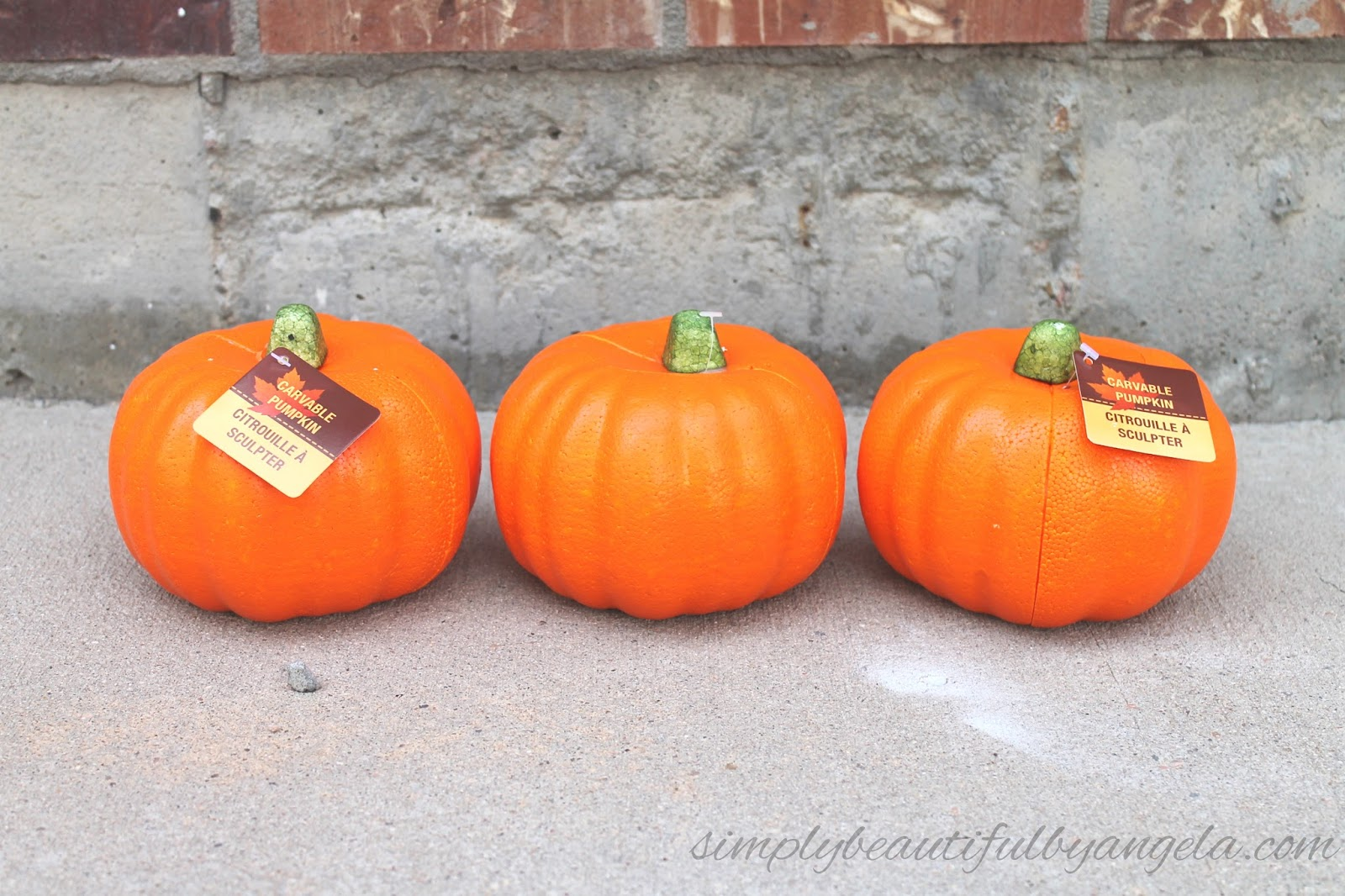 How to store pumpkins - Have You All Seen These Pumpkins At The Dollar Store I Always Just Pass Them By Because Let S Be Real They Aren T The Most Beautiful Or Realistic Looking
