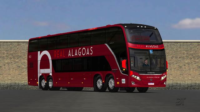OMSI 2 - Pintura da Real Alagoas de Viação para o Busscar Vissta Buss DD MB O-500 RSDD