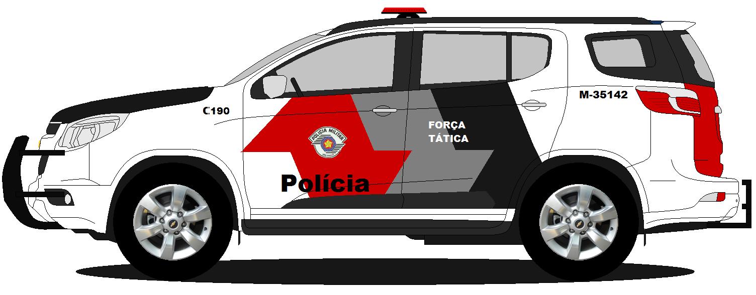 Desenhos De Carros No Paint Trailblazer Da Policia Do