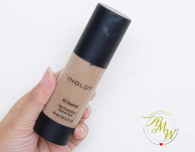 a photo of Inglot All Covered Concealer and Foundation review