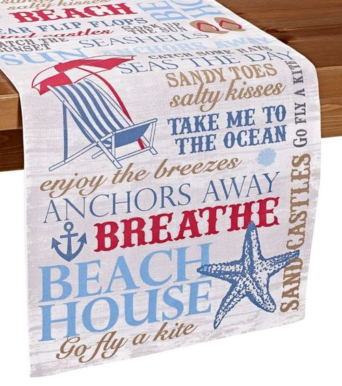 Beach Theme Quote Table Runner