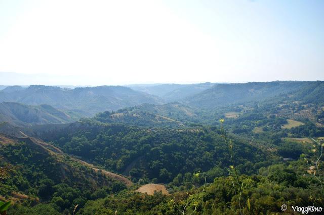 La valle dei Calanchi vista da Civita di Bagnoregio