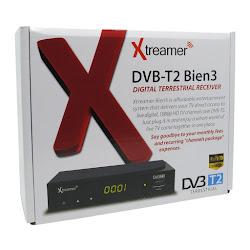 """Xtreamer BIEN 3 Set Top Box DVB-T2 and Media Player <p><b>Rp 250.000</b> <font color=""""black""""><b>-</b></font> <strike><font color=""""red"""">Rp 300.000</strike></font></p><code> XTTV0ABK</code>"""