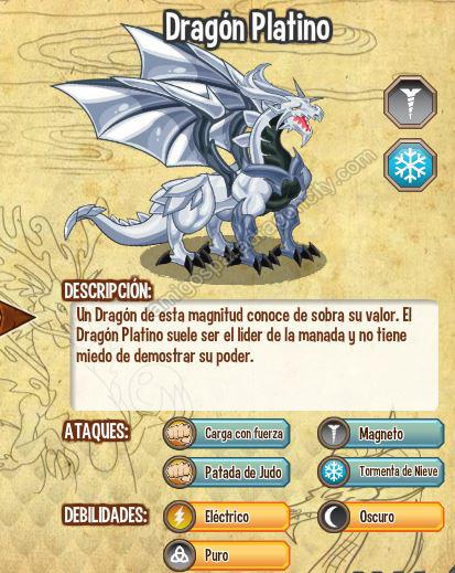 imagen del dragon platino y sus caracteristicas