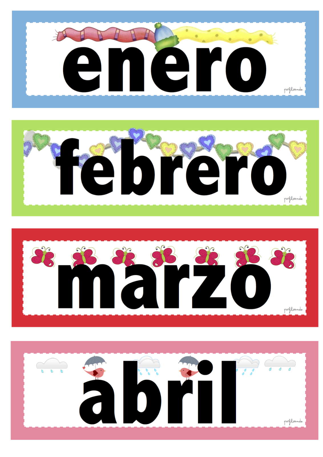 Los Meses Del Ano En Ingles Nombre De Los Meses Del Ano Pictures To Pin On Pinterest