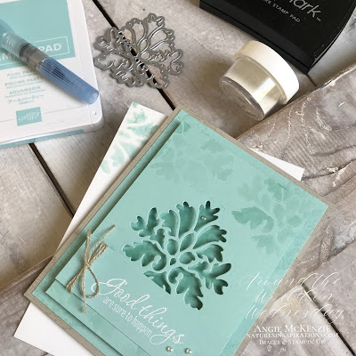 By Angie McKenzie for Around the World on Wednesday Blog Hop launch; Click READ or VISIT to go to my blog for details! Featuring the Tasteful Textures Bundle (cling stamp set and dies) from the 2019-20 Annual Catalog; #stampinup #tastefultexturesstampset #tastefulbackgroundsdies #tastefultexturesbundle #naturesinkspirations #generationstamping #watercoloringwithaquapainters #handmadecards #linenthread #cardtechniques #stampingtechniques #awowbloghop