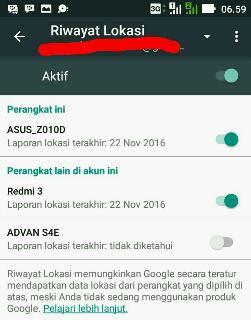 Mencari smartphone android yang hilang dari aplikasi pengelola perangkat