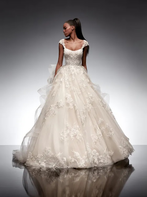 Square Necklines-Adhara from Nicole Milano-wedding dresses-Weddings by K'Mich Philadelphia PA