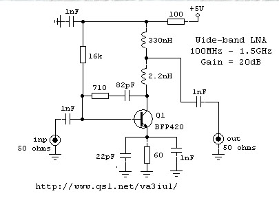 homemade diy howto make lna wideband rf amplifier range between 100 rh howtodosteps blogspot com FM Broadcast RF Amplifiers simple rf amplifier circuit diagram