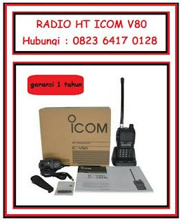 radio ht icom v80 murah di batam/ tempat jual radio ht di batam/ tempat seting frekuensi ht di batam/ distributor ht di batam
