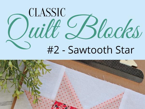 """{Classic Quilt Blocks} Sawtooth Star - A Tutorial <img src=""""https://pic.sopili.net/pub/emoji/twitter/2/72x72/2702.png"""" width=20 height=20>"""