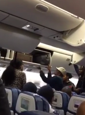 """Don't touch my LV bag' – Two Nigerian women almost come to blows on a Delta flight to Lagos"