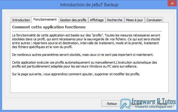 jaBuT Backup : un logiciel de sauvegarde simple et performant