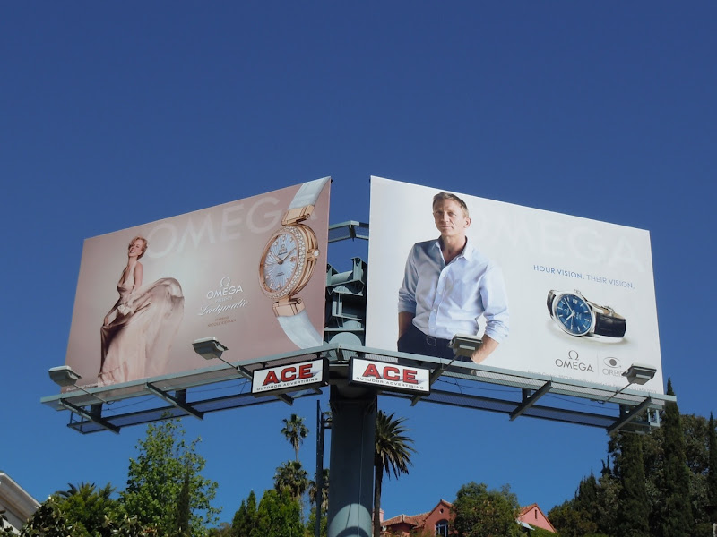 Daniel Craig Omega watch billboard