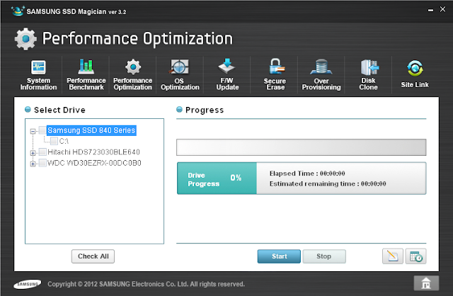 Samsung SSD Magician performance optimzation