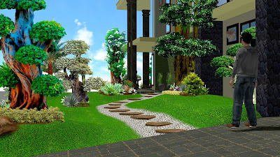 tukang taman surabaya | desain taman surabaya