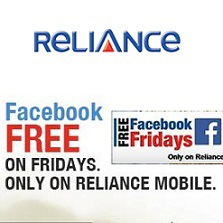 Reliance Official Offer for free Facebook Every Friday