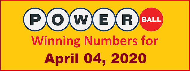 PowerBall Winning Numbers for Saturday, April 04, 2020