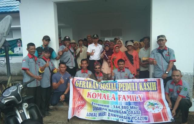 Gerakan Sosial, Camat Lalan bersama Komunitas Komala Family Muba Berikan Sembako Bagi Lansia