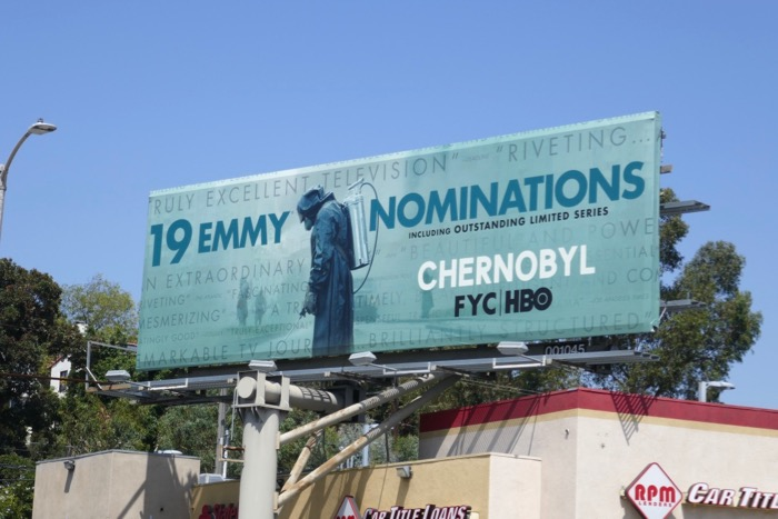 Chernobyl 2019 Emmy nominee billboard