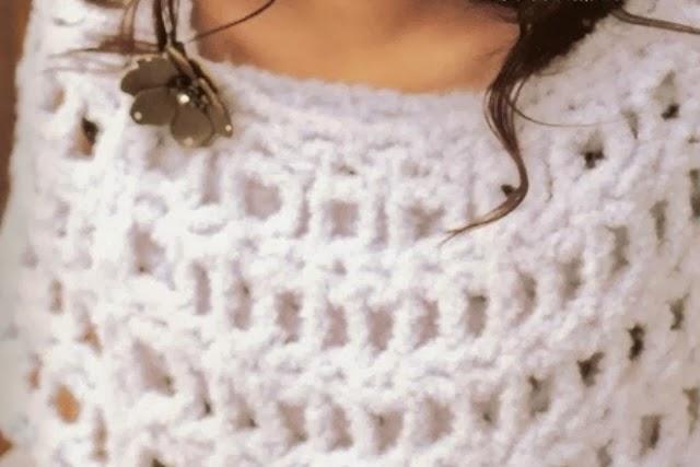 Capa-Chal Rejilla Crochet Tutorial