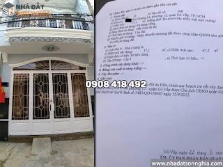 Nhà bán Gò Vấp hẻm 84 Bùi Quang Là phường 12 - 4x10m đúc 1 lầu giá 3,45 tỷ (MS 084)
