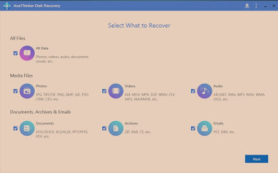 Hard Disk Data Recovery with AceThinker Disk Recovery for Win and Mac for 365 Days