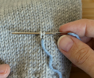How to form the duplicate stitch
