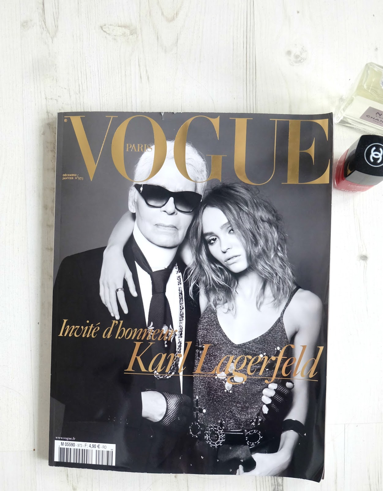 vogue paris lily rose depp, karl lagerfeld