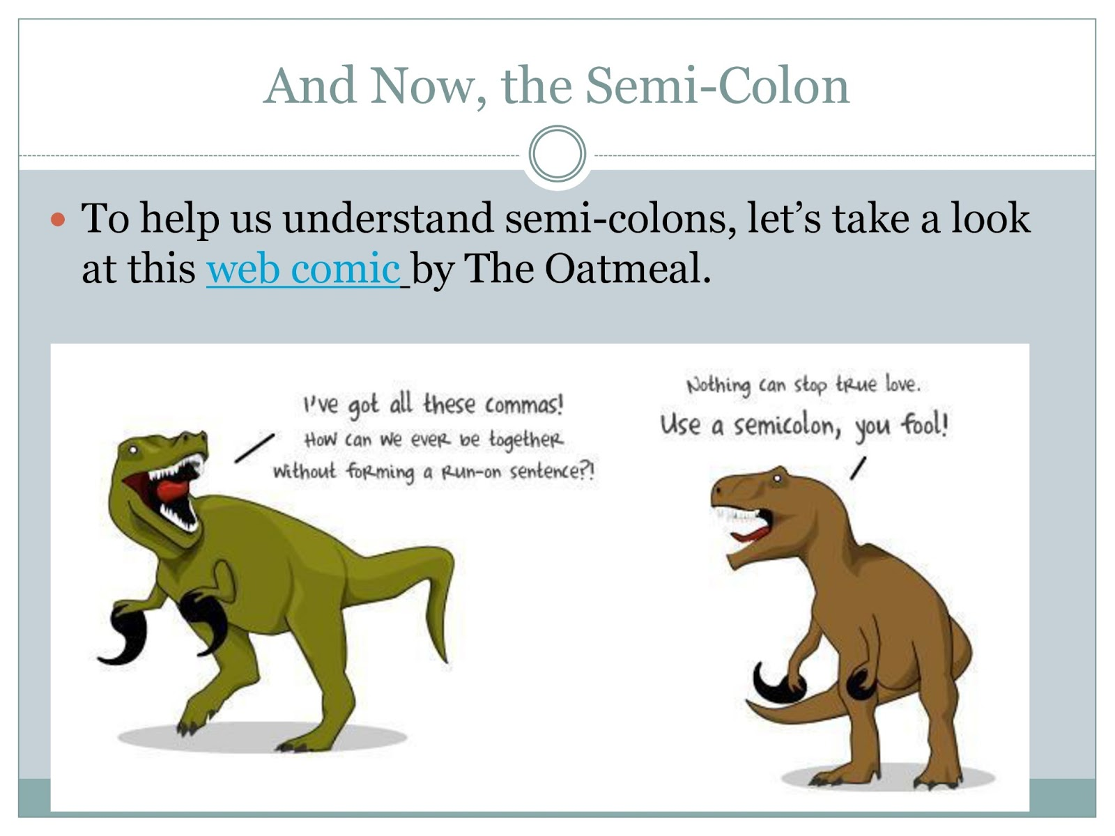 Semicolons And Commas Powerpoint Presentation