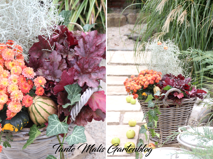 Fall basket with flowers